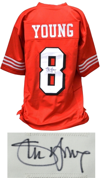 Steve Young Signed Red Custom Football Jersey
