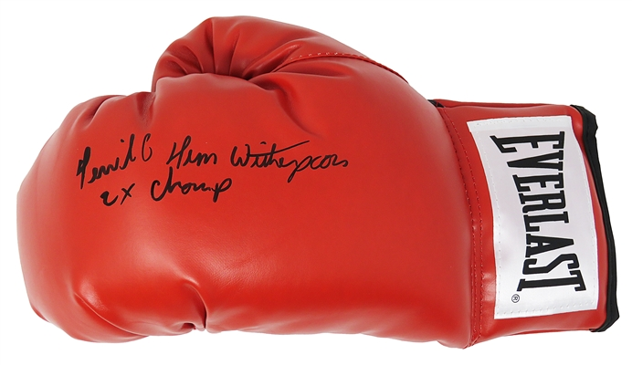 Tim Witherspoon Signed Everlast Red Boxing Glove w/Terrible & 2x Champ