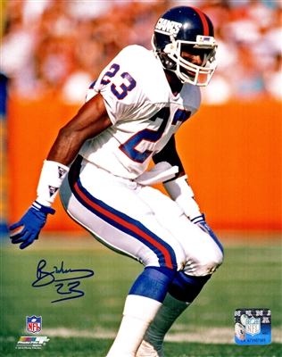 Perry Williams Signed New York Giants Action 8x10 Photo