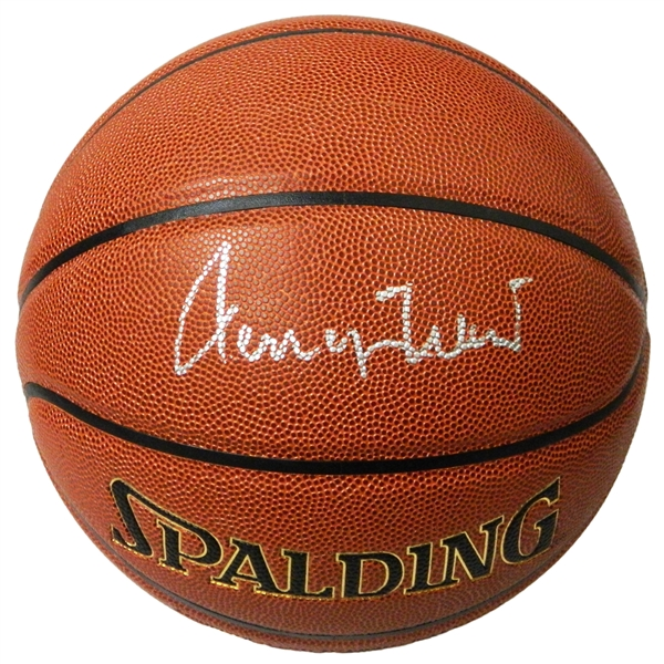 Jerry West Signed Spalding NBA Indoor/Outdoor Basketball