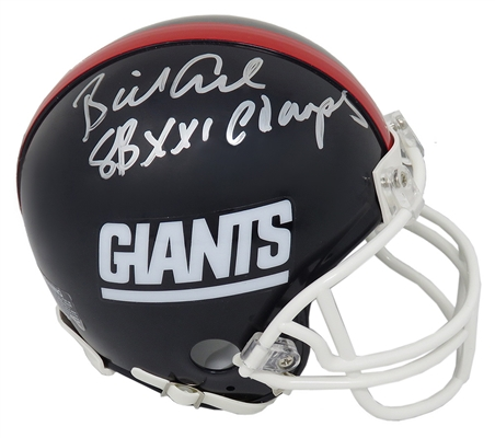 Billy Ard Signed New York Giants Throwback Riddell Mini Helmet w/SB XXI Champs