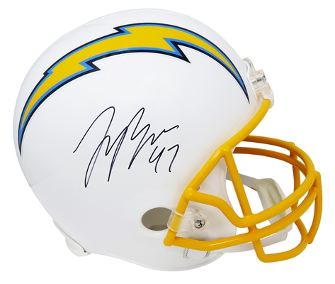 Joey Bosa Signed Los Angeles Chargers Riddell Full Size Replica Helmet