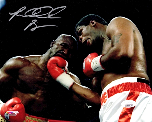 Riddick Bowe Signed Boxing vs Evander Holyfield 8x10 Photo
