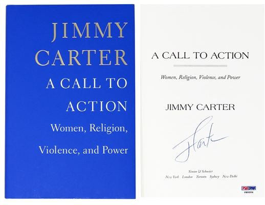 President Jimmy Carter Signed A Call To Action Women, Religion, Violence & Power Hardcover Book