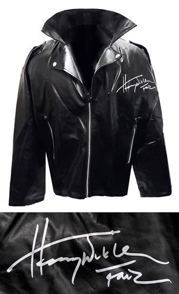 Henry Winkler Signed Black Greaser Costume Biker Jacket w/Fonz