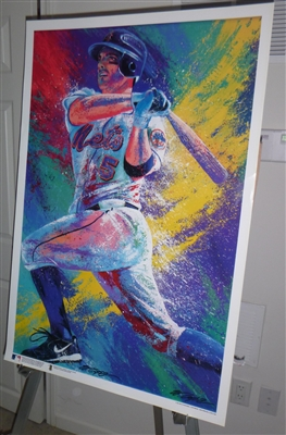 "New York Mets 36x24"" Fine art lithograph of David Wright done by renowned sports artist Bill Lopa"