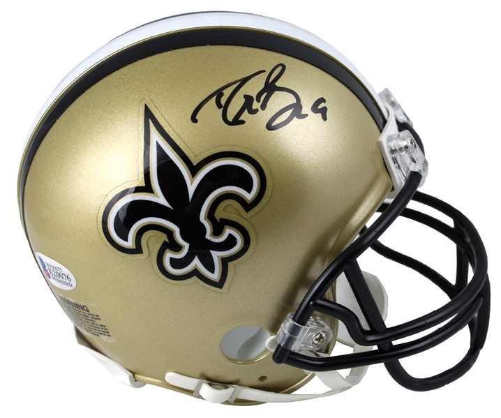 Drew Brees Signed Saints Riddell Mini Helmet