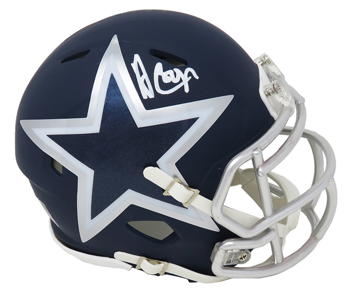 Amari Cooper Signed Dallas Cowboys AMP Alternate Series Riddell Speed Mini Helmet