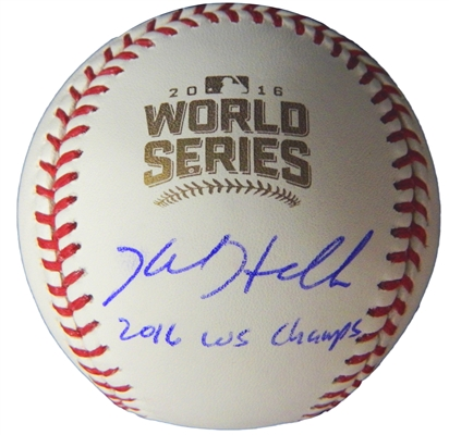 Kyle Hendricks Signed Rawlings Official 2016 World Series Baseball w/2016 WS Champs