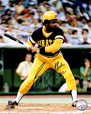 Bill Madlock Signed Pittsburgh Pirates Batting Action 8x10 Photo w/4x NL BC