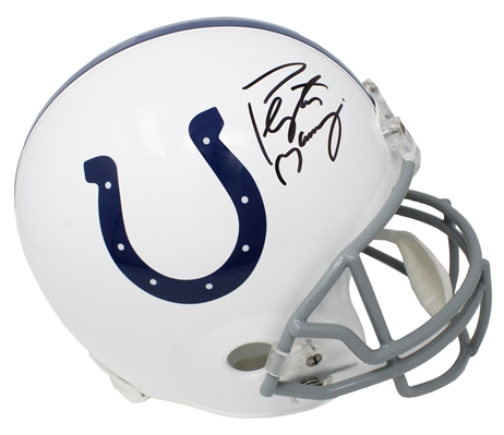 Peyton Manning Signed Indianapolis Colts Riddell Full-Size Replica Helmet
