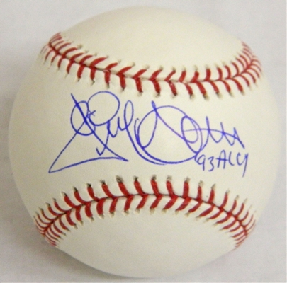 New York Yankees Jack McDowell Signed Official MLB Baseball w/93 AL CY