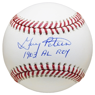 Boston Redsox Gary Peters Signed Rawlings Official MLB Baseball w/1963 AL ROY