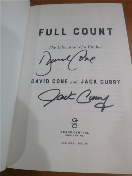 New York Yankees David Cone & Jack Curry Signed Book Full Count