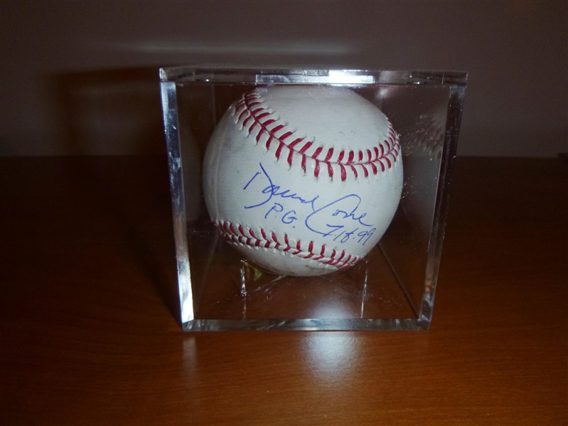 New York Yankees David Cone Signed Baseball With PG Inscription