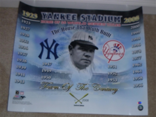 New York Yankees The House That Ruth Built 16x20 Photo