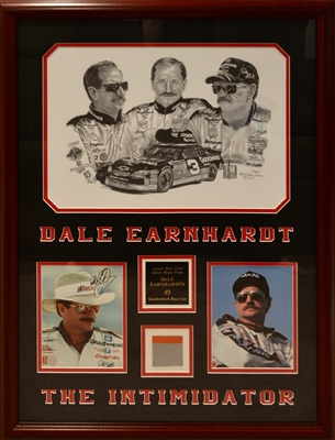 "Nascar Dale Earnhardt ""The Intimidator"" Signed Photo Collage Framed"