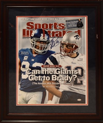New York Giants Michael Strahan Signed 16x20 SI 16x20 Photo Framed
