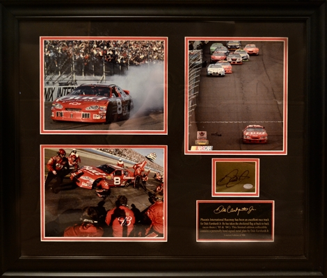 Nascar Dale Earnhardt Jr Signed Photo Collage Limited Edition 225/408 Framed