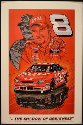The Shadow Of Greatness Dale Earnhardt Jr Framed