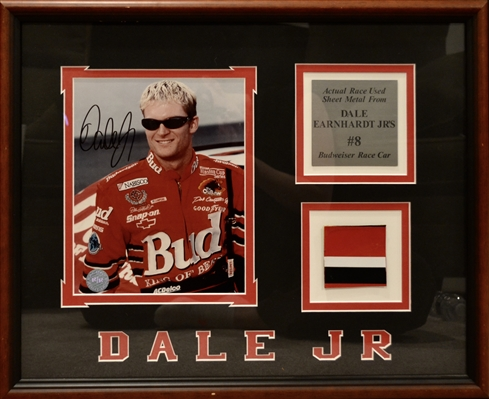 Nascar Dale Earnhardt Jr Signed Collage Framed