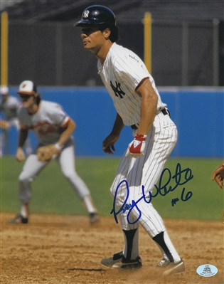 New York Yankees Roy White Signed 8x10 Photo With #6 Inscription
