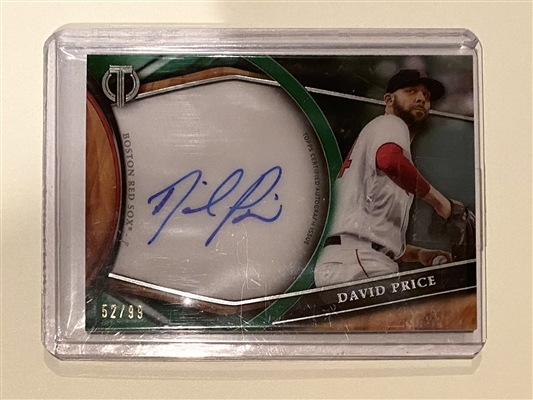 Boston Redsox David Price Certified Tribute Signed 2018 Topps Card TA-DP