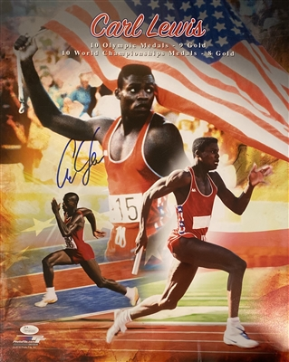 Olympic Star Carl Lewis Signed 16x20 Photo