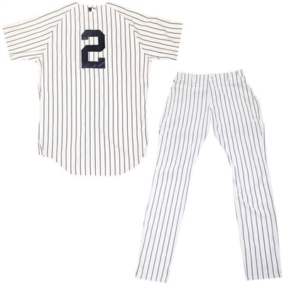 Derek Jeter Game Used Pinstripe Jersey and Pants From his FINAL SEASON
