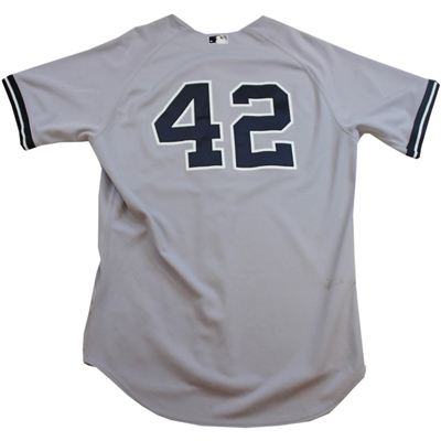 Mariano Rivera Jersey - NY Yankees Game Worn #42 Grey Jersey