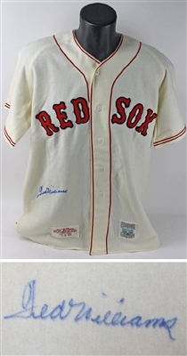 Ted Williams signed .406 1941 50th anniv Red Sox jersey autograph HOF JSA LOA LE