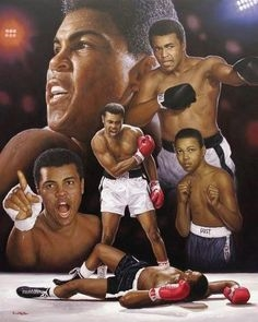 Muhammad Ali Original Art On Canvas By Renowned Artist Doo S. Oh