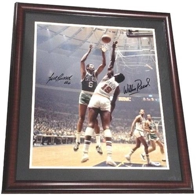 Bill Russell & Willis Reed Signed Framed 20x24 Photo Celtics Knicks Auto PSA/DNA