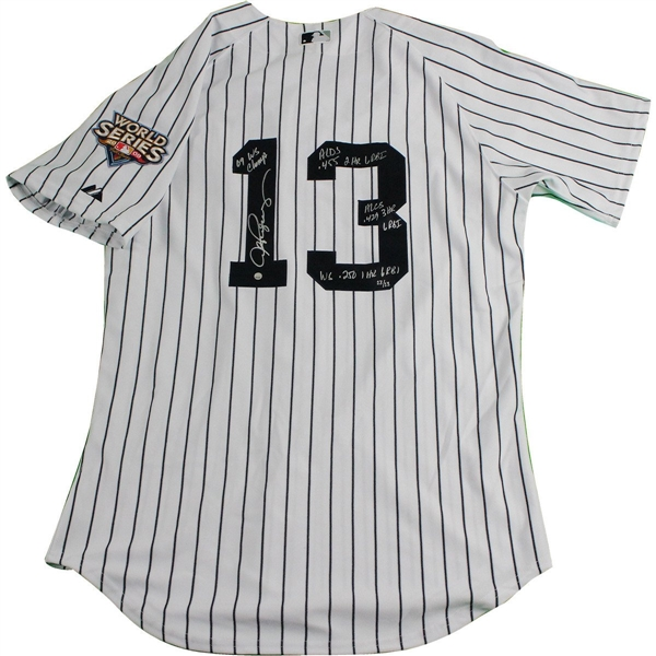 Alex Rodriguez Signed 2009 WS 4 Inscription Stat Yankees Authentic Home Jersey w/2009 WS Patch (LE/13)