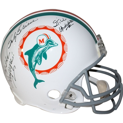 "Bob Griese Signed Miami Dolphins Proline Throwback Dolphins 1972 Helmet w/ ""Pop the Champagne, Still Undefeated"" Insc"