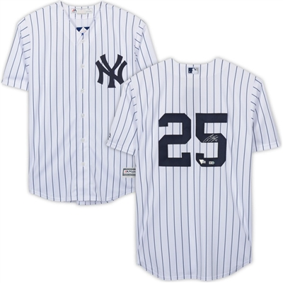Gleyber Torres New York Yankees Autographed Majestic White Replica Jersey