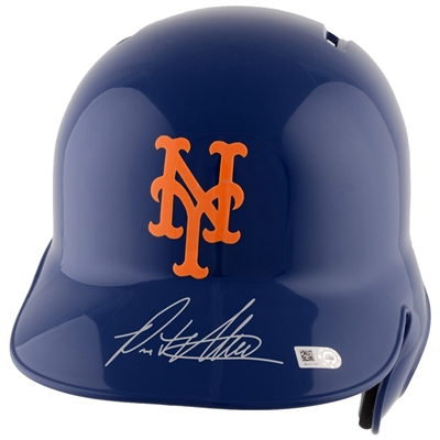 Pete Alonso New York Mets Autographed Replica Batting Helmet