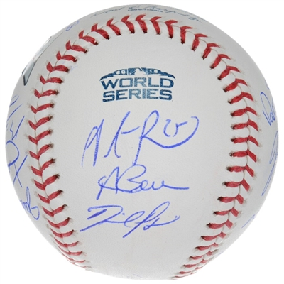 Boston Red Sox 2018 MLB World Series Champions Autographed Logo Baseball with 15 Signatures - Limited Edition of 218