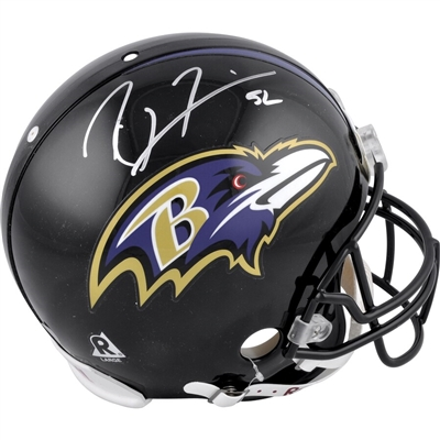 Ray Lewis Baltimore Ravens Autographed Pro-Line Riddell Authentic Helmet
