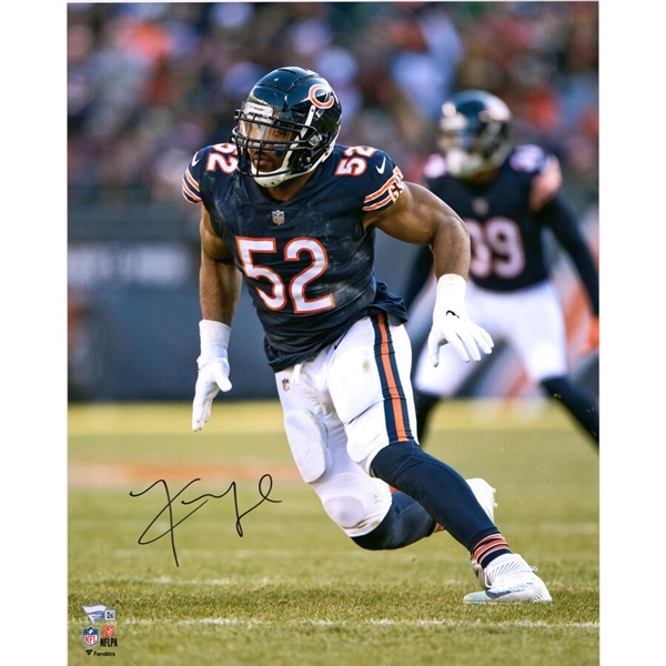 Khalil Mack Chicago Bears Autographed 16 x 20 Vertical Pass Rush Photograph