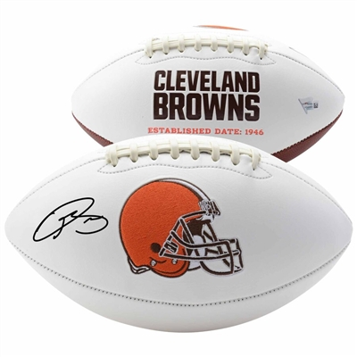 Odell Beckham Jr Cleveland Browns Autographed White Panel Football