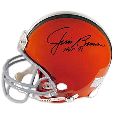 "Jim Brown Cleveland Browns Autographed Riddell Helmet with ""HOF 71"" Inscription"