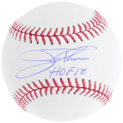 "Jim Thome Cleveland Indians Autographed Baseball with ""HOF 18"" Inscription"