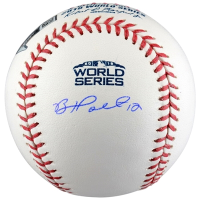 Brock Holt Boston Red Sox 2018 MLB World Series Champions Autographed Logo Baseball