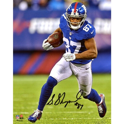 "Sterling Shepard New York Giants Autographed 8"" x 10"" Vertical Running Photograph"