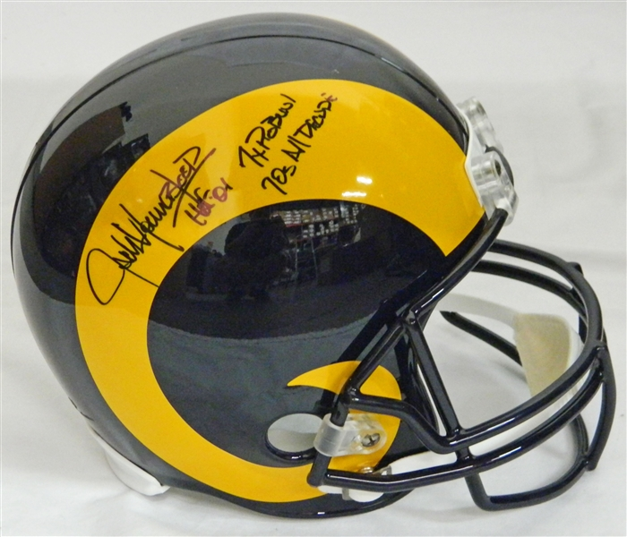 Jack Youngblood Signed LA Rams T/B Riddell Full-Size Replica Helmet w/HOF'01, 7x Pro Bowl, 70's All Decade