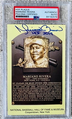 Mariano Rivera Hall Of Fame Signed Card, PSA Authenticated