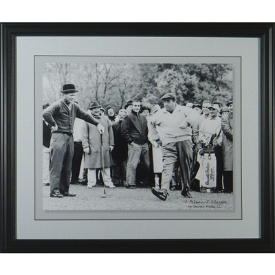 "Jackie Gleason & Arnold Palmer 16x20 Photo Framed Called ""And Away We Go""Unsigned"