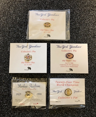 New York Yankees Collection of 5 Special Event Gameday pins