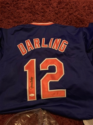 New York Mets Ron Darling Signed Blue Jersey
